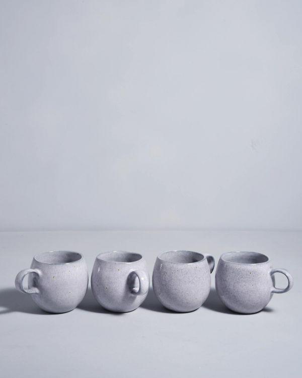 Mae 4er Set Tasse klein grau