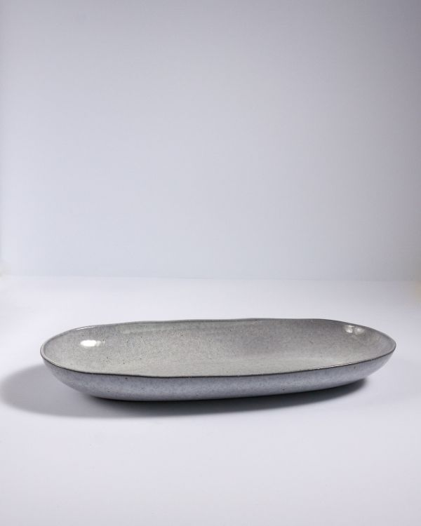Mae - Servierplatte L grau