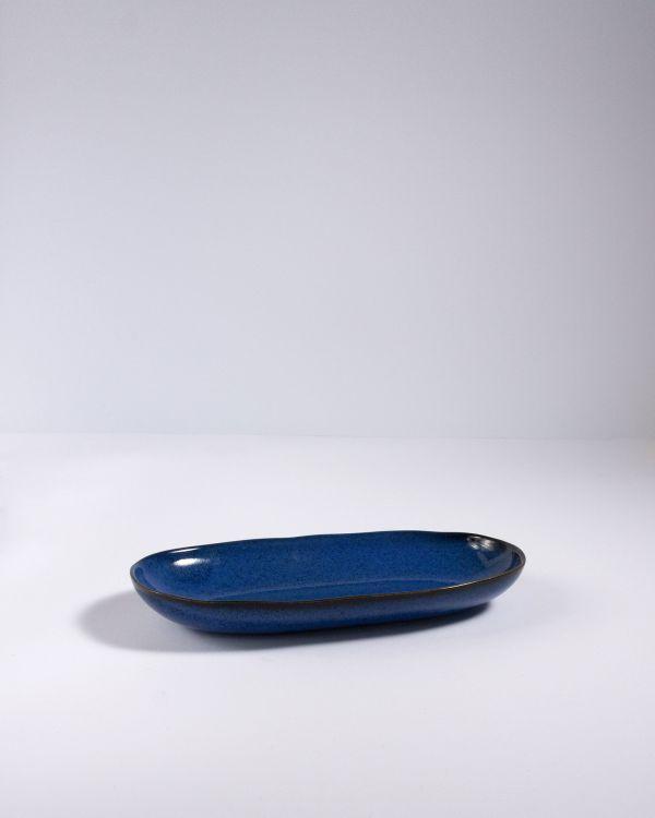 Mae - Servierplatte M dunkelblau