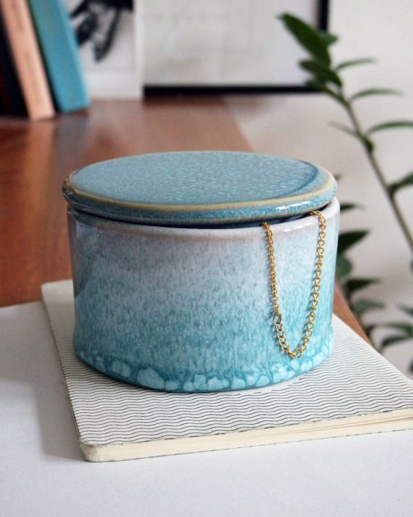 CORDOAMA – Bowl with lid aqua