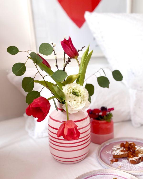 NUNO M - rose & red striped