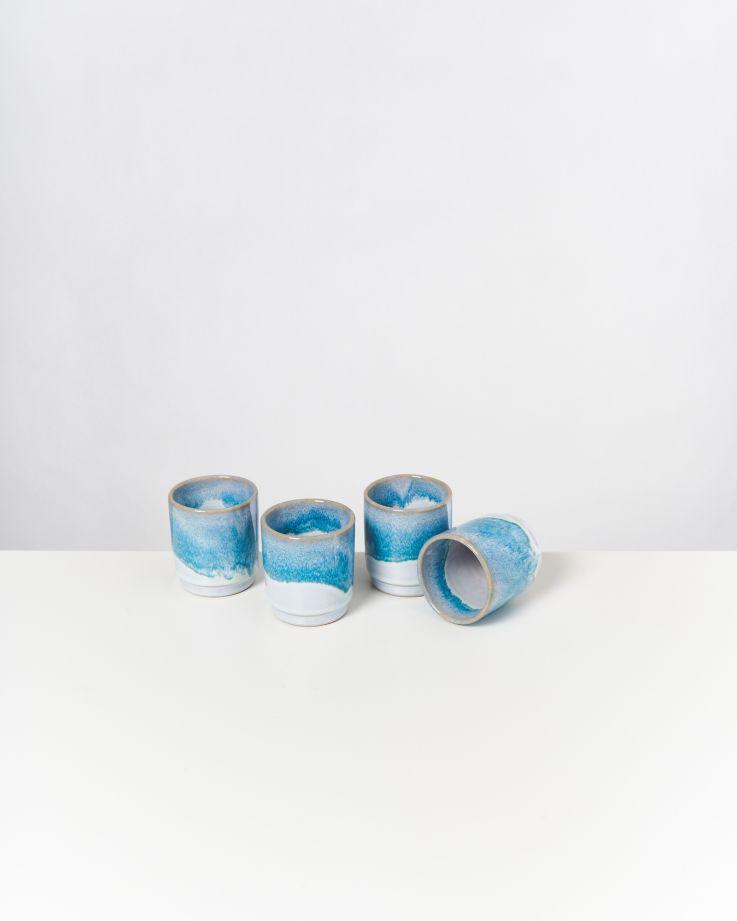 Cordoama 4er Set Becher aqua