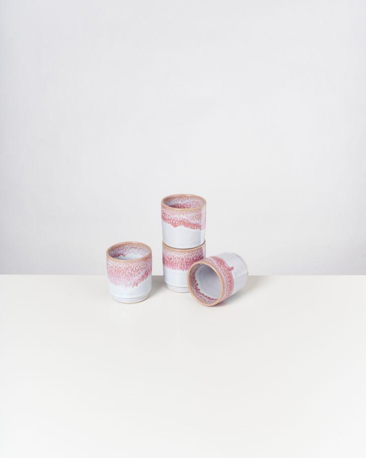 Cordoama 4er Set Becher pink
