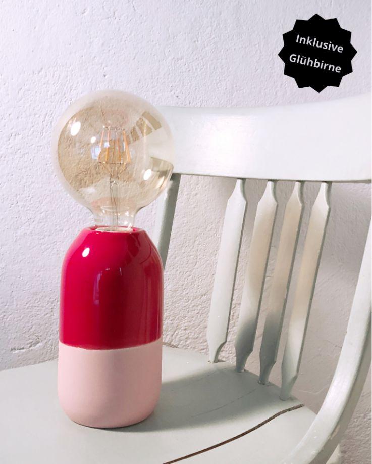 Farol Lampe rot rosa