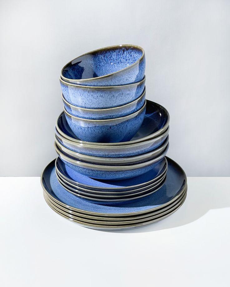 Melides blue - 16 teiliges Set