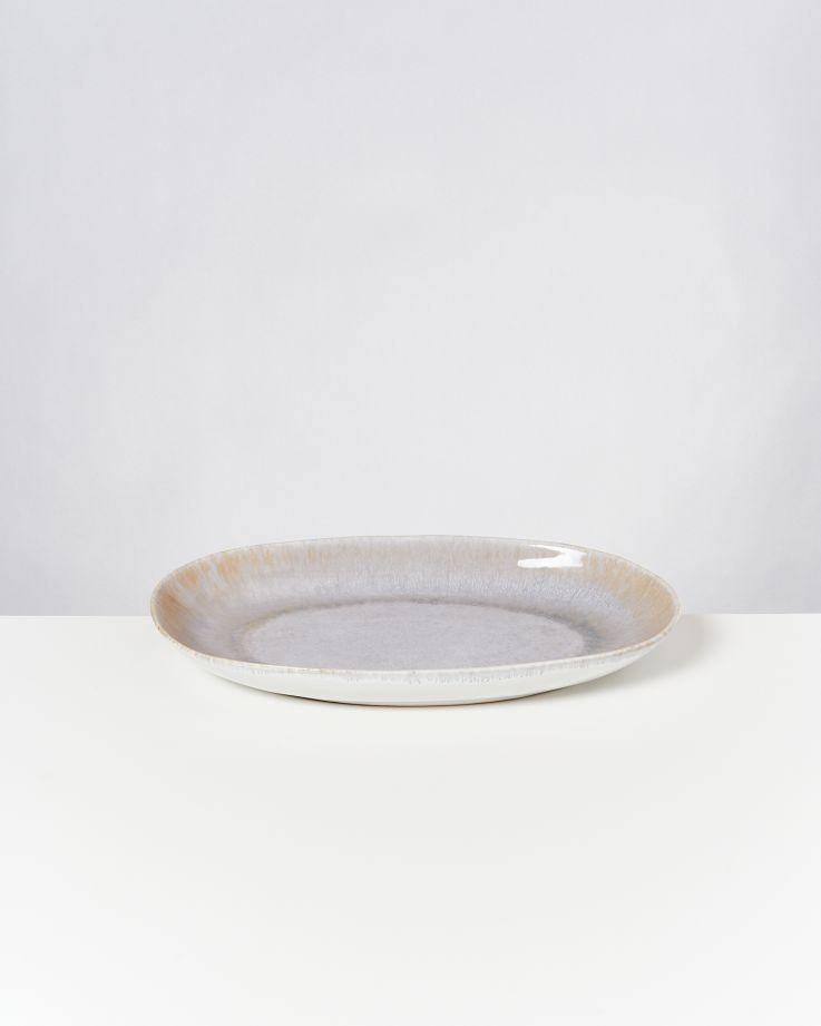 Alcachofra Servierplatte L graublau