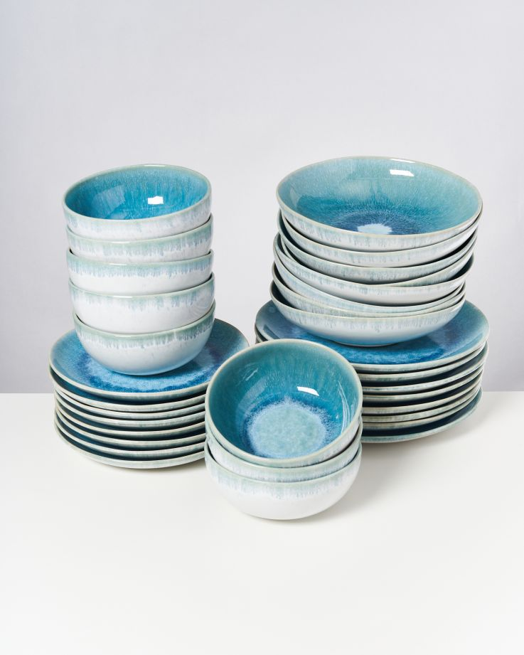 ALCACHOFRA - Set of 32 pieces greenblue