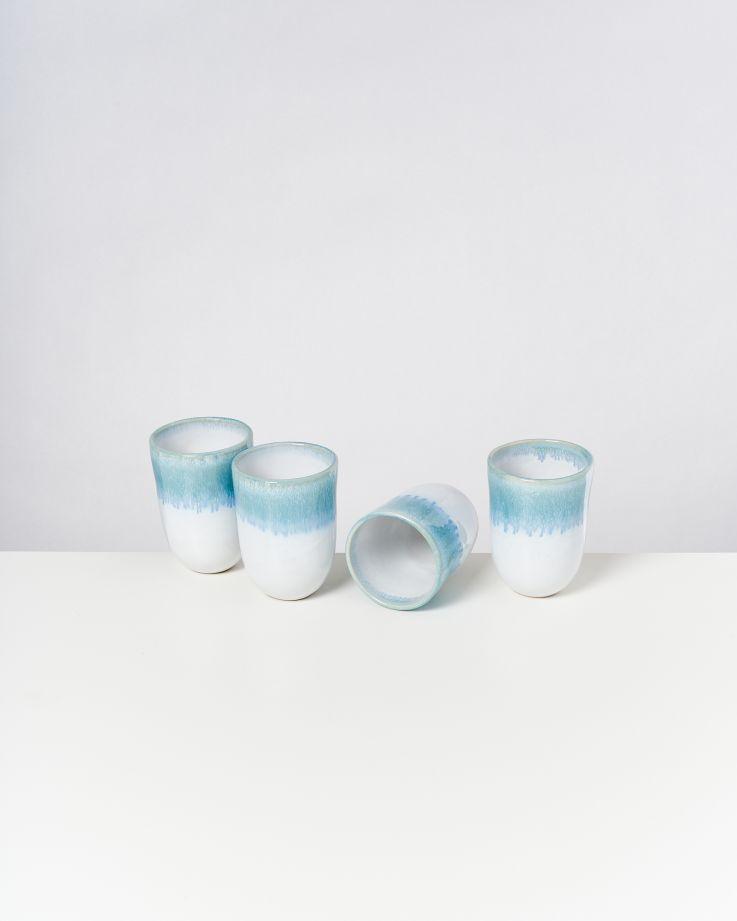 ALCACHOFRA - Set of 4 Cups big greenblue