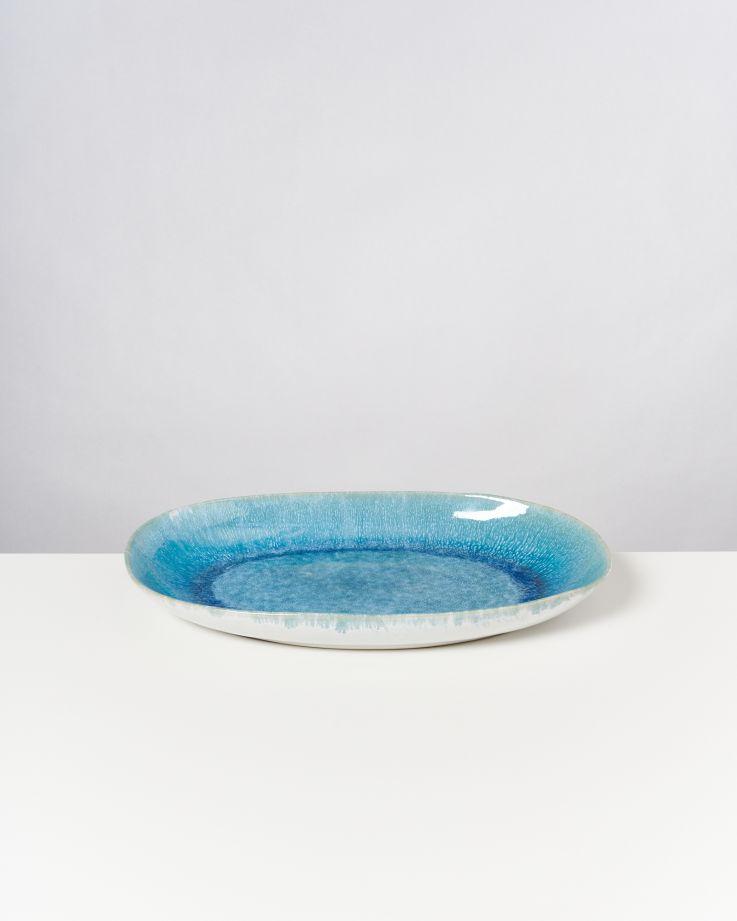 Alcachofra Servierplatte L grünblau