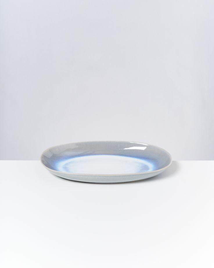 Alcachofra Servierplatte L hellblau