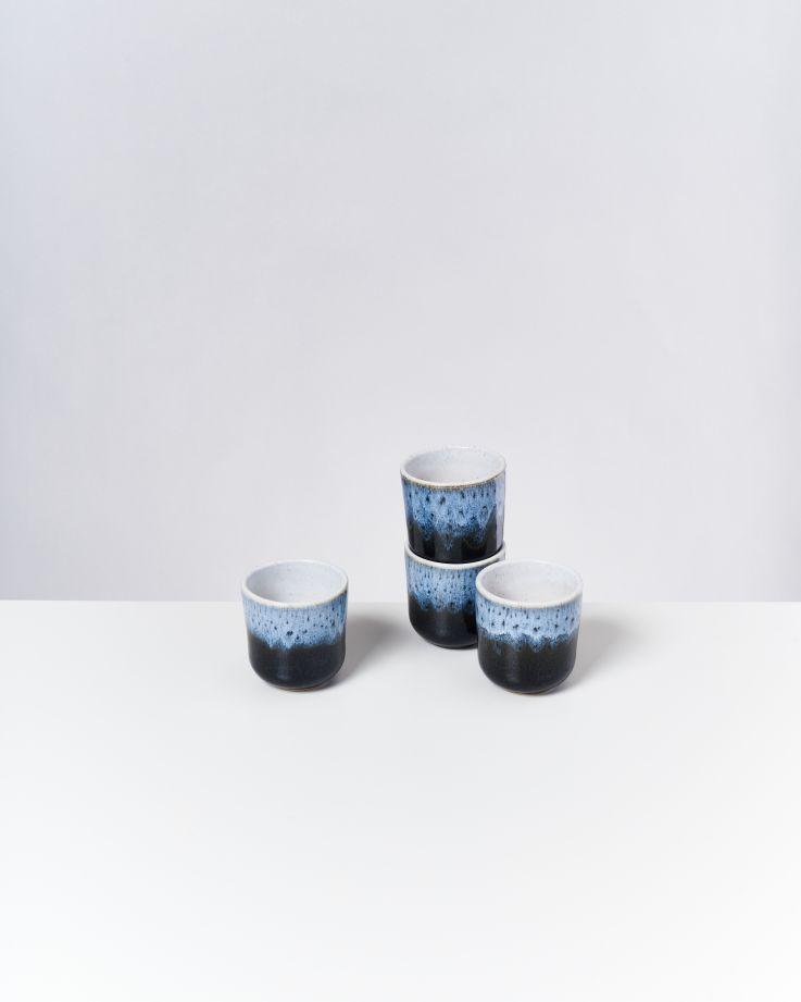 Alcachofra 4er Set Becher klein schwarz