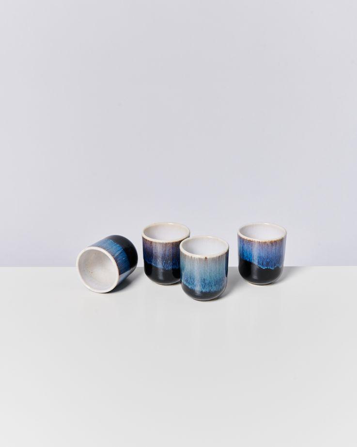 ALACHOFRA - Set of 4 Mugs small black