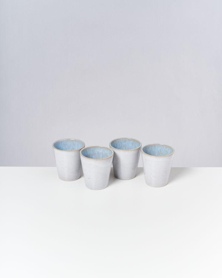 Areia 4er Set Becher groß azur