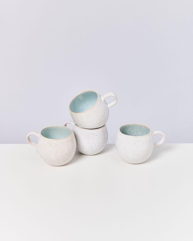 Areia 4er Set Tasse groß azur