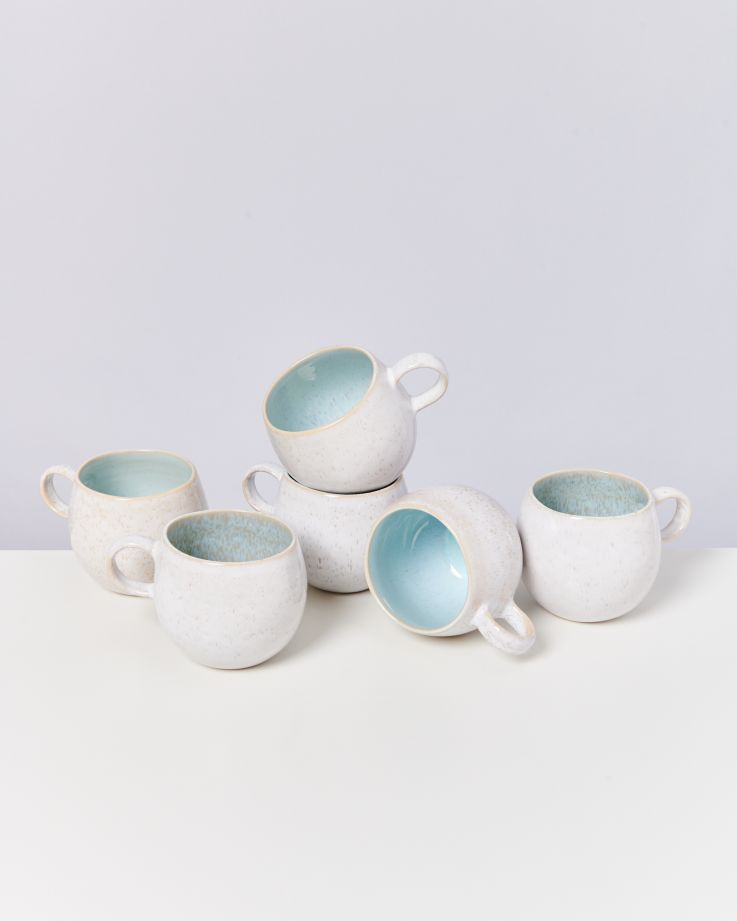 Areia 6er Set Tasse groß azur