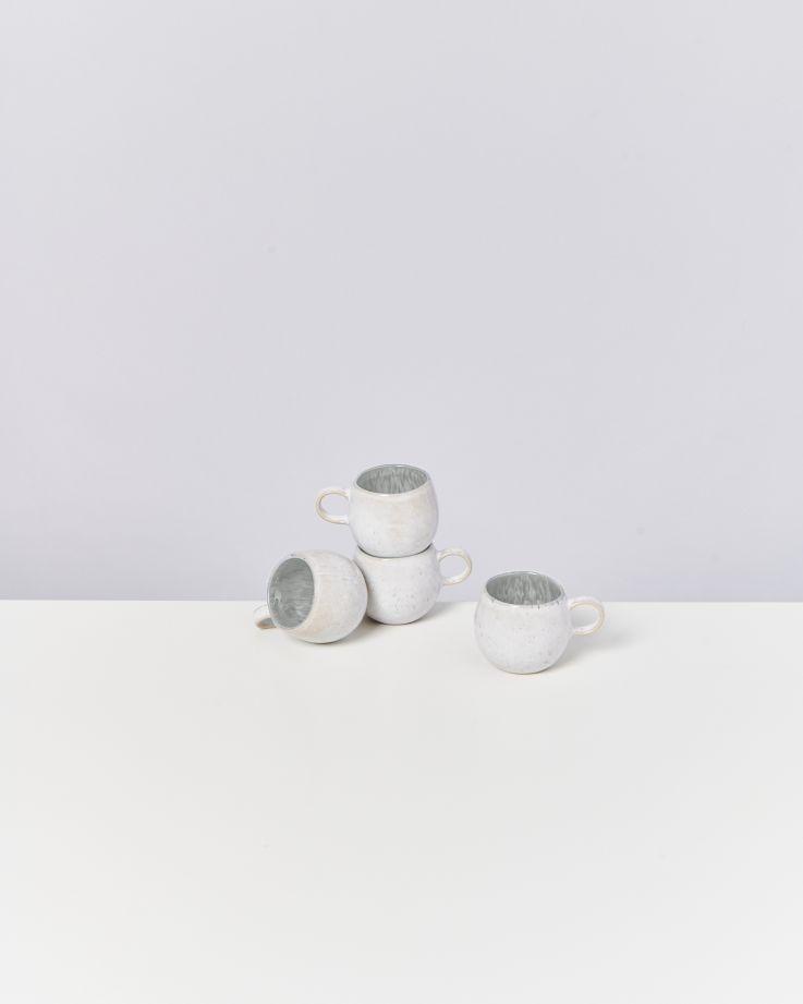 Areia 4er Set Espressotasse grau