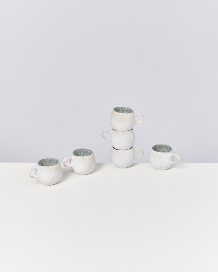 Areia 6er Set Espressotasse grau