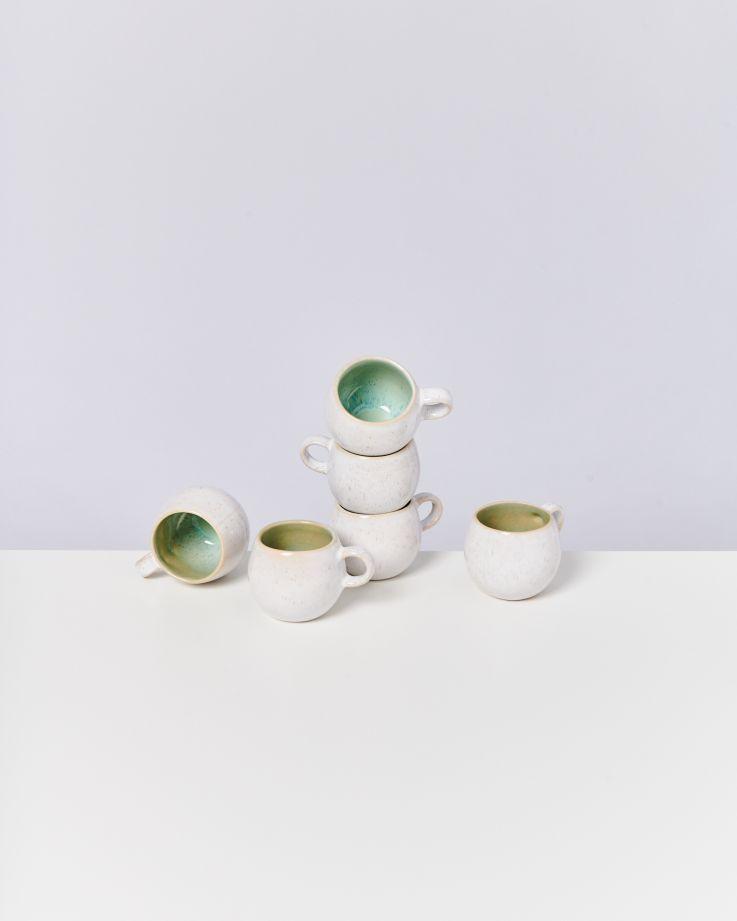 Areia 6er Set Espressotasse mint