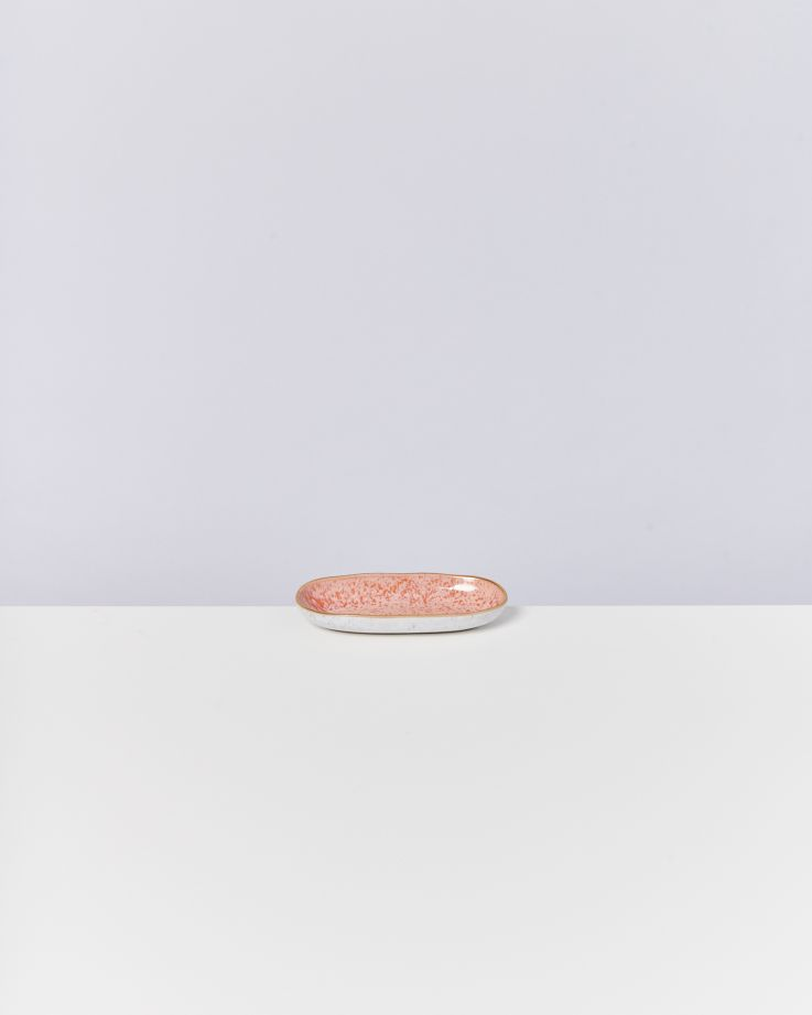 Areia Servierplatte S mit Goldrand pink