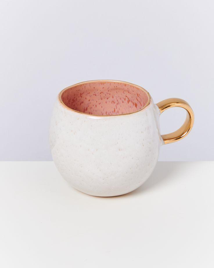 Areia Tasse groß pink mit Gold