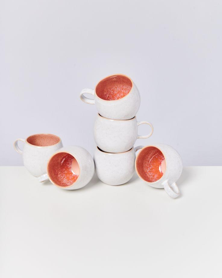 Areia 6er Set Tasse groß pink