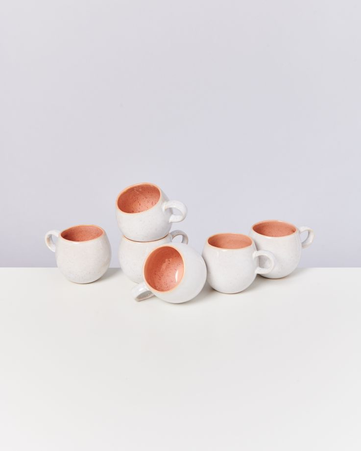 Areia 6er Set Tasse klein pink