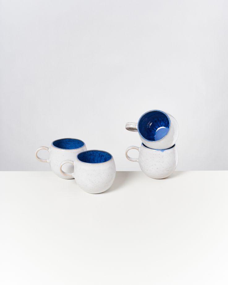 Areia 4er Set Tasse groß royalblau