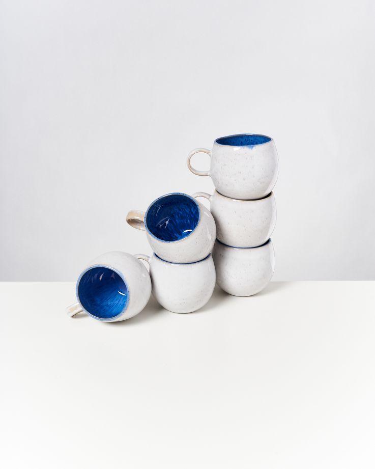 Areia 6er Set Tasse groß royalblau