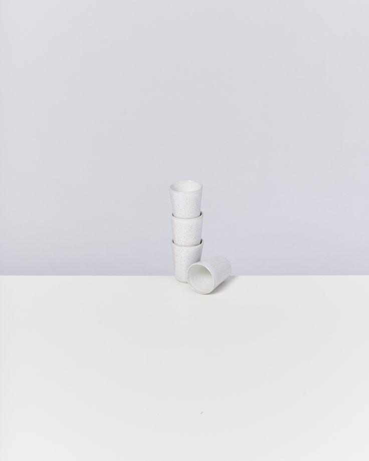 Areia 4er Set Espressobecher weiß