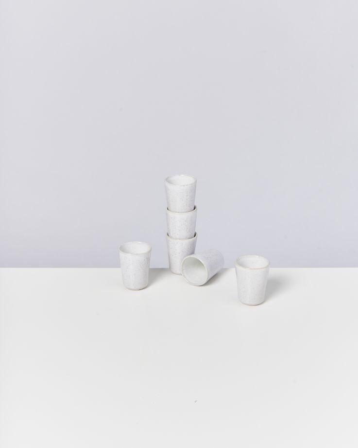 Areia 6er Set Espressobecher weiß
