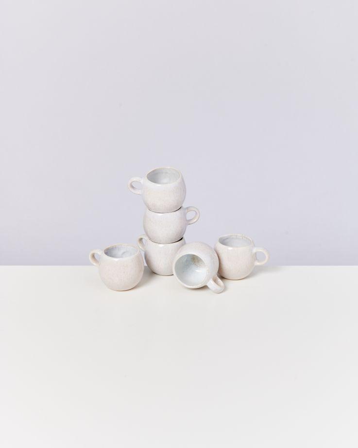 Areia 6er Set Espressotasse weiß
