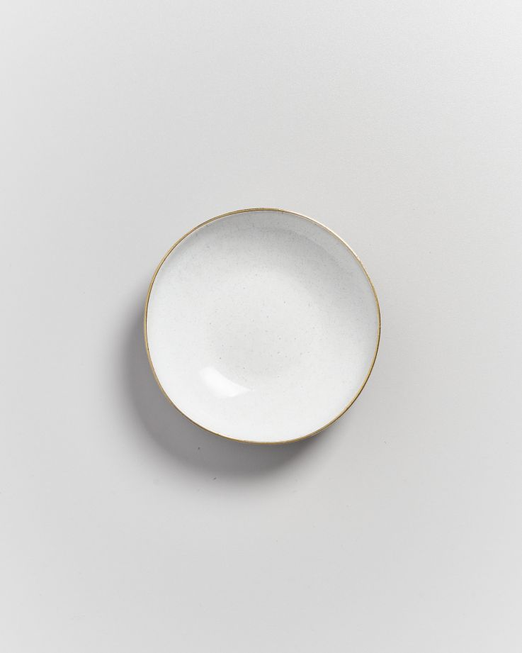 Areia Miniteller mit Goldrand weiß