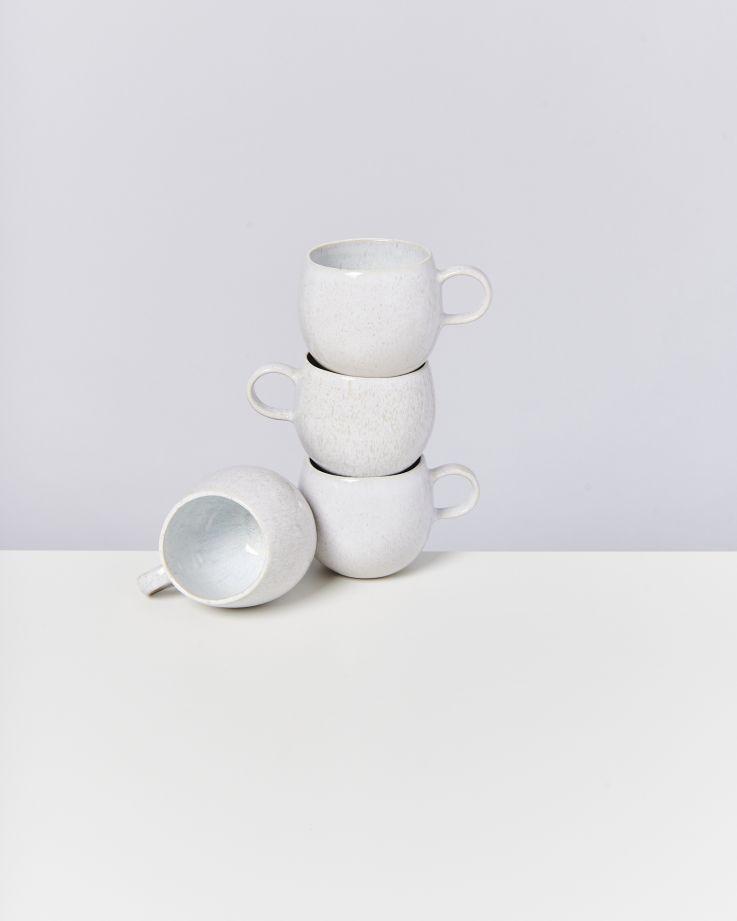 Areia 4er Set Tasse groß weiß