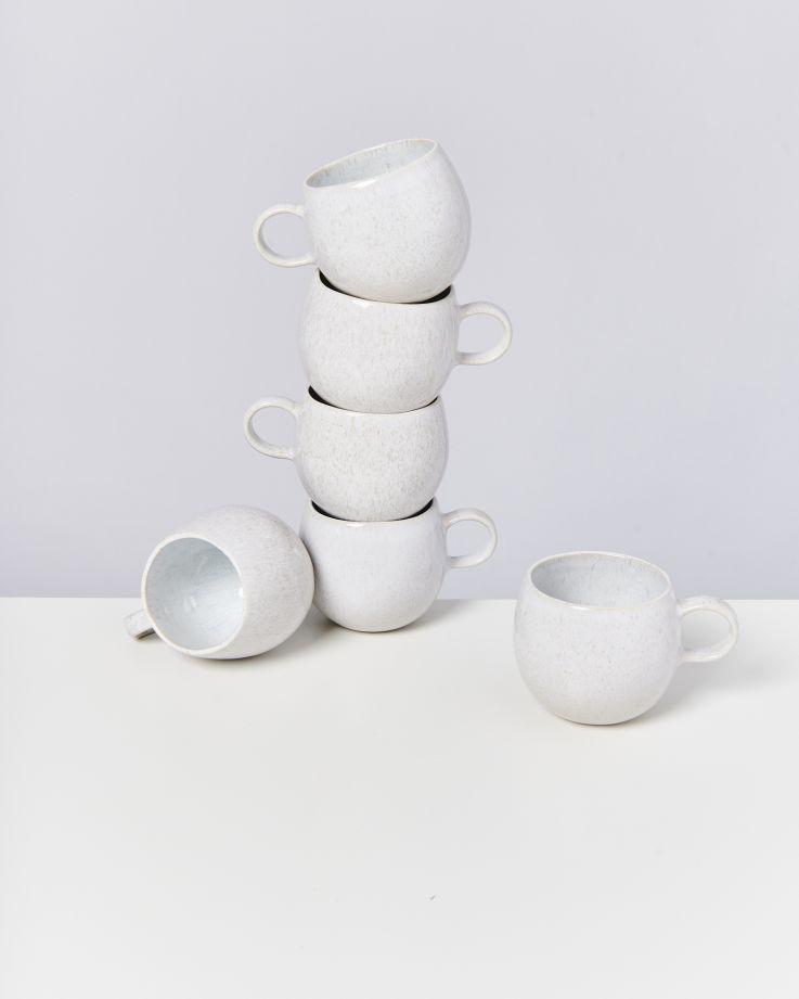 Areia 6er Set Tasse groß weiß