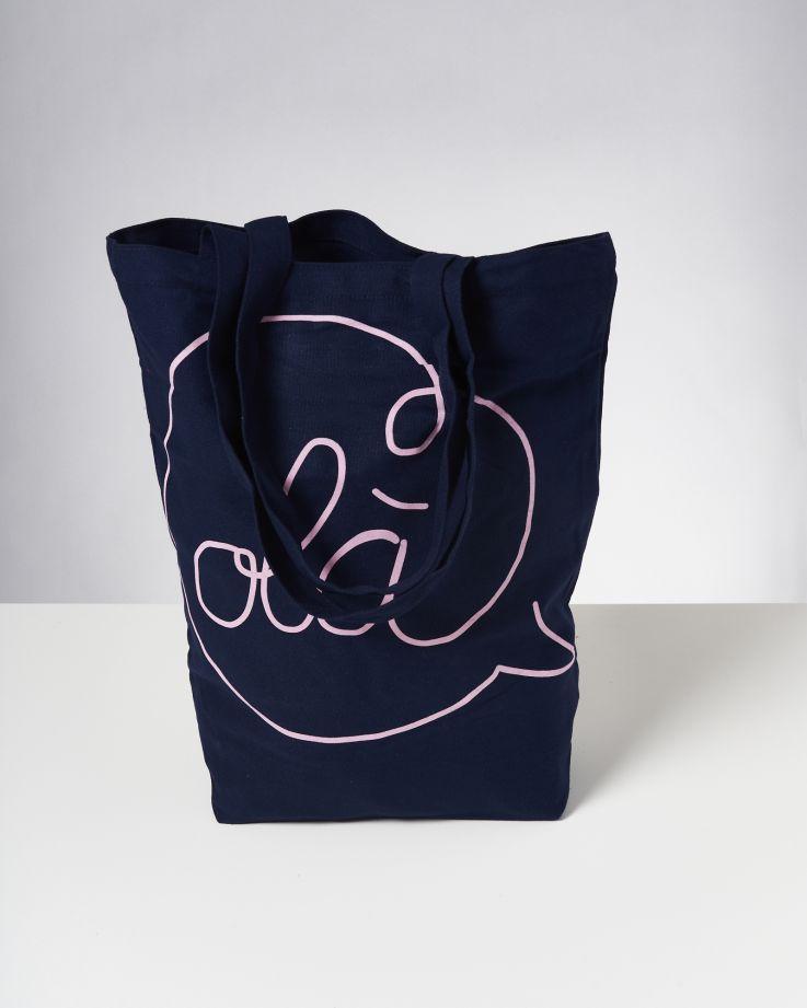 Beach Bag navy rose