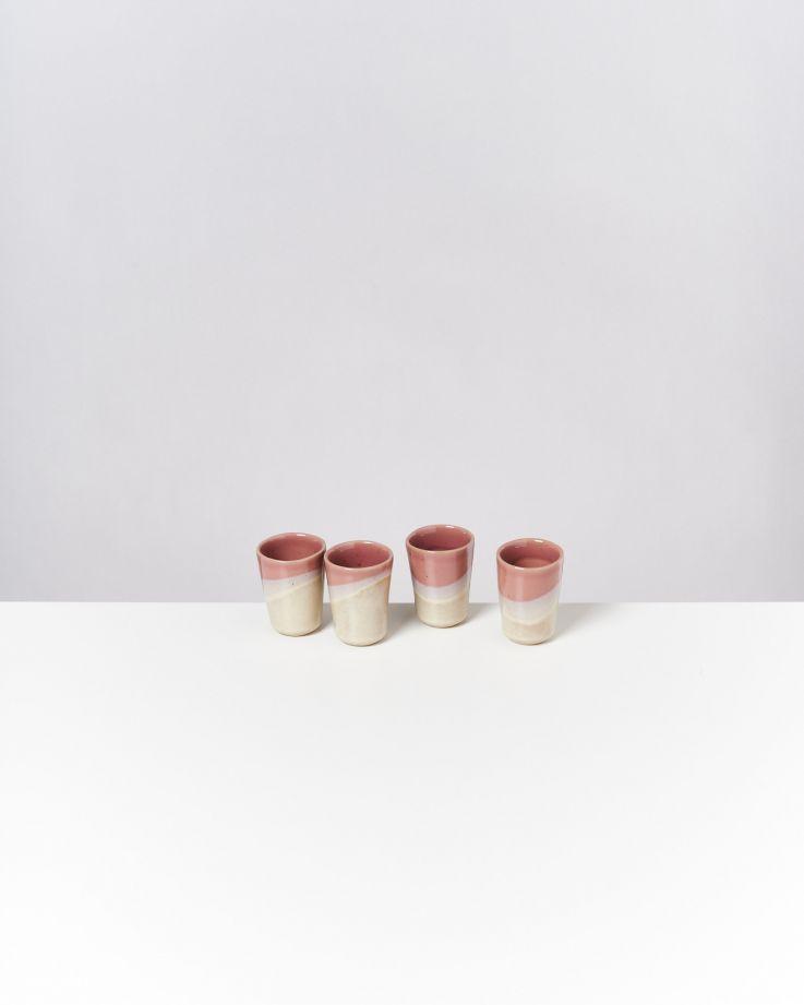 Bica 4er Set Espressobecher pink cream
