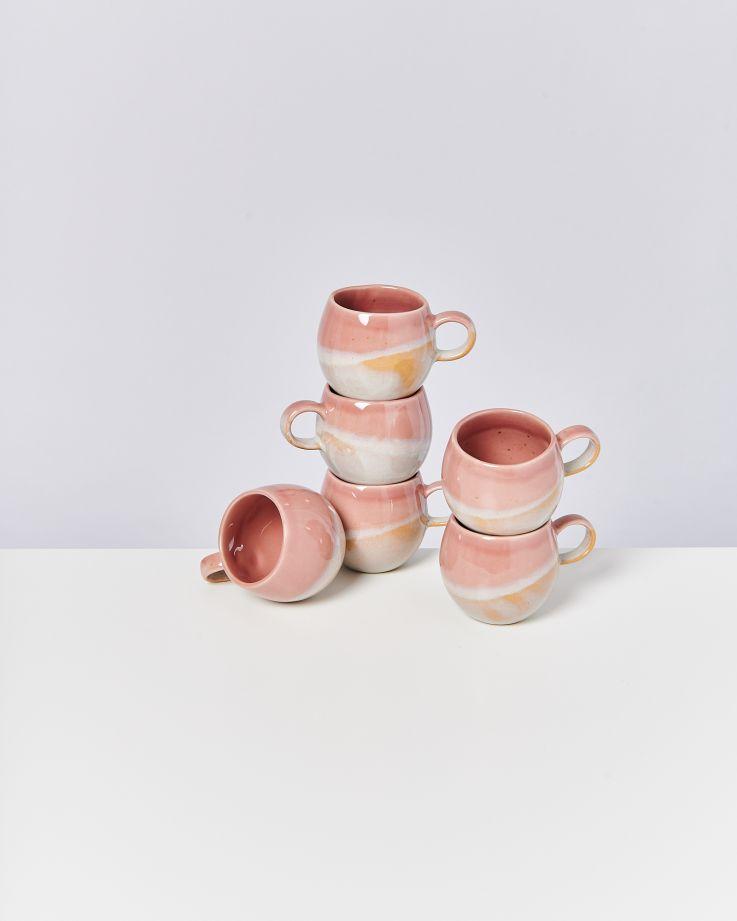 Bica 6er Set Tasse klein pink cream