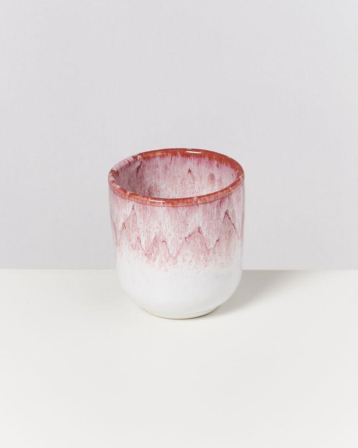 Copa Alto Becher klein rose weiß
