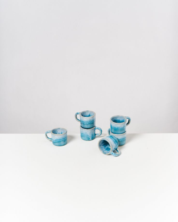 Cordoama 6er Set Espressotasse aqua