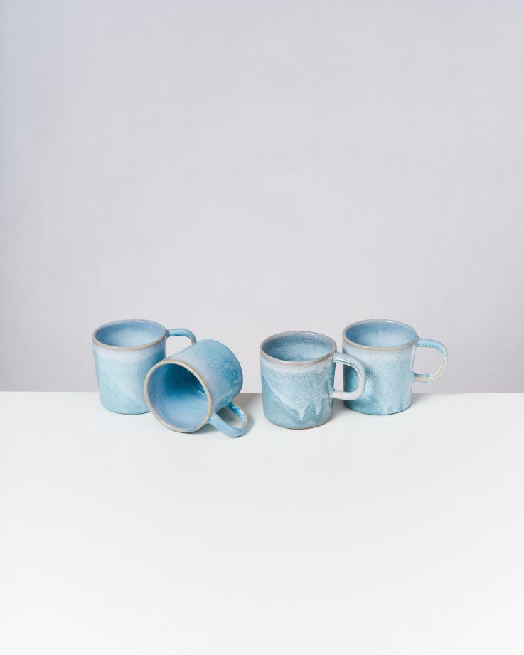 Cordoama 4er Set Tasse groß aqua