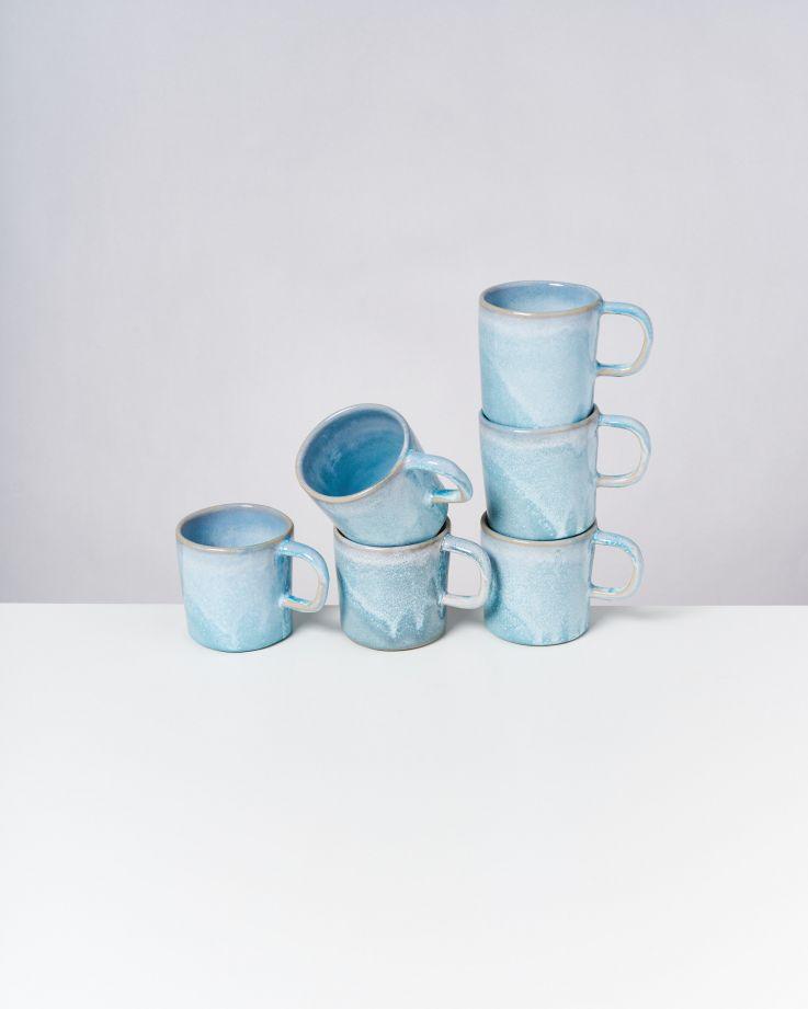Cordoama 6er Set Tasse groß aqua