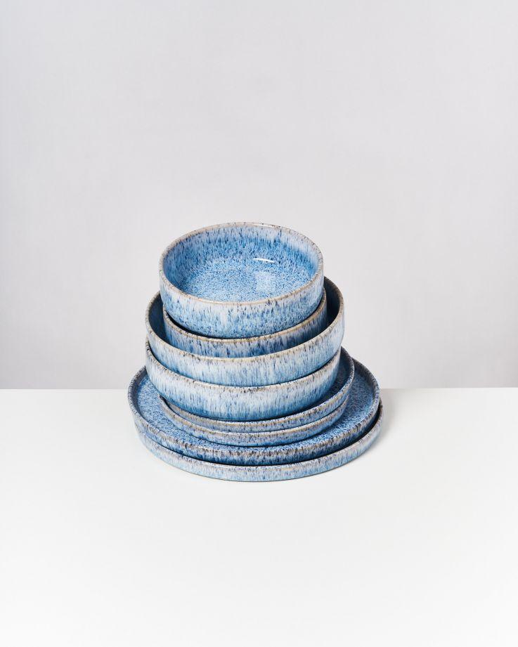 Cordoama blau gesprenkelt - 8 teiliges Set