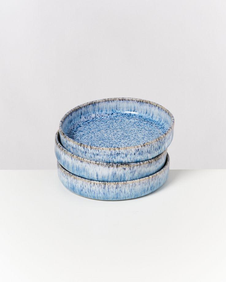 Cordoama Miniteller tief blau gesprenkelt