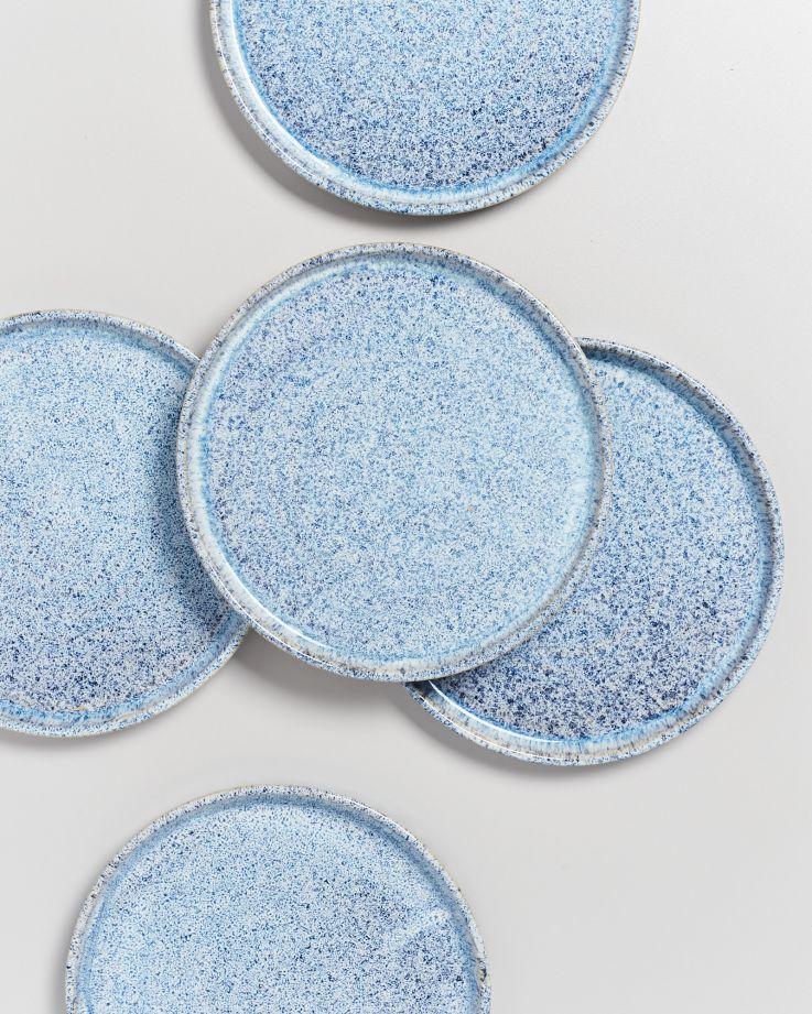 Cordoama Teller klein blau gesprenkelt