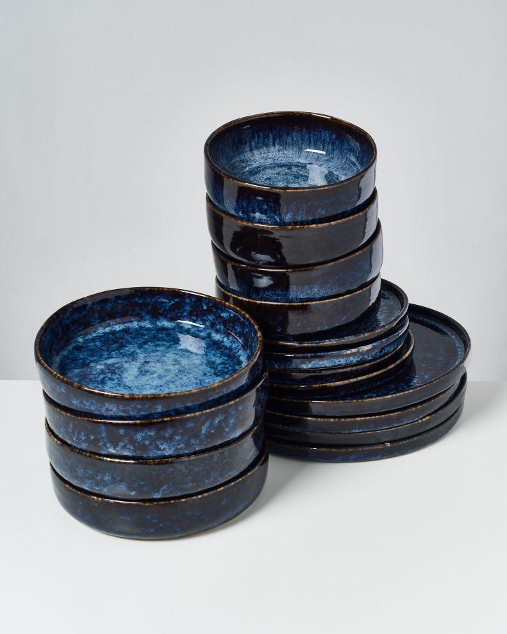 Cordoama dunkelblau - 16 teiliges Set