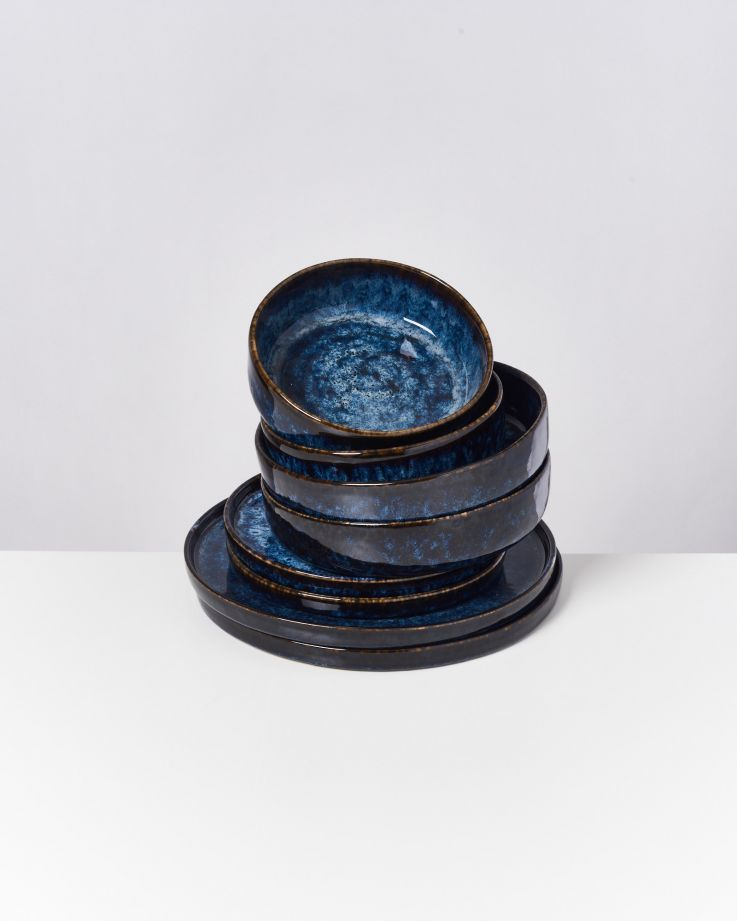 Cordoama dunkelblau - 8 teiliges Set