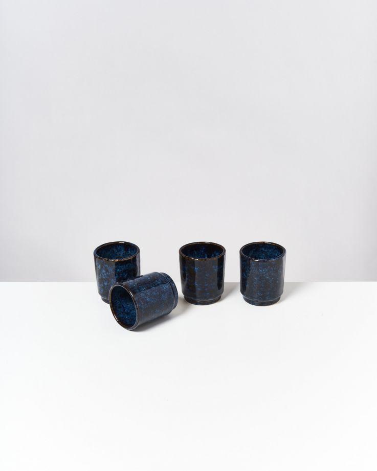 Cordoama 4er Set Becher dunkelblau