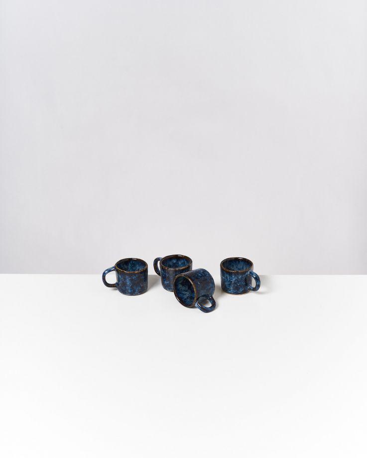 Cordoama 4er Set Espressotasse dunkelblau