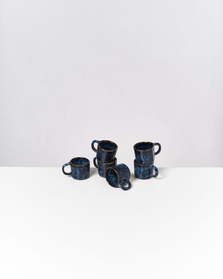 Cordoama 6er Set Espressotasse dunkelblau