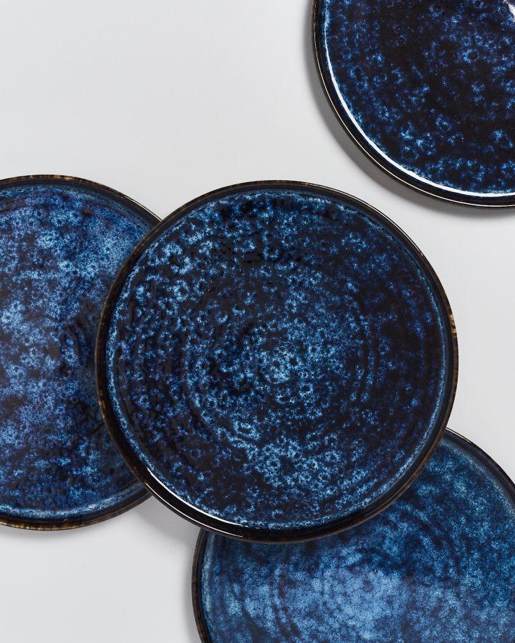 Cordoama Teller groß dunkelblau